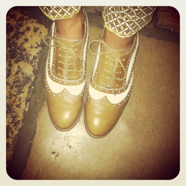 Holly from the Isle of Wight in H by Hudson brogues