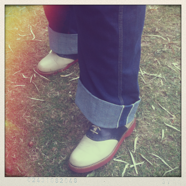 Helen from Warrington in boots from Cow Vintage