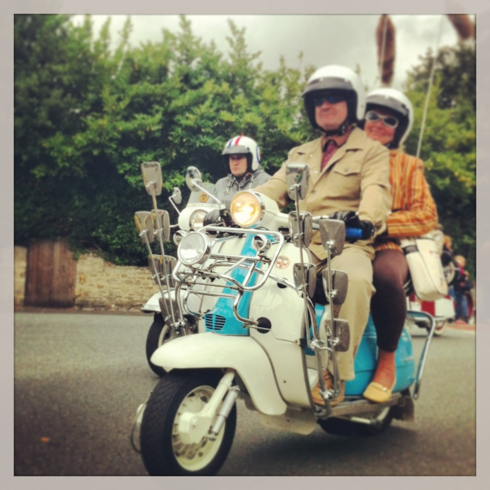 two of the six thousand mods that took part in Sunday's scooter ride out