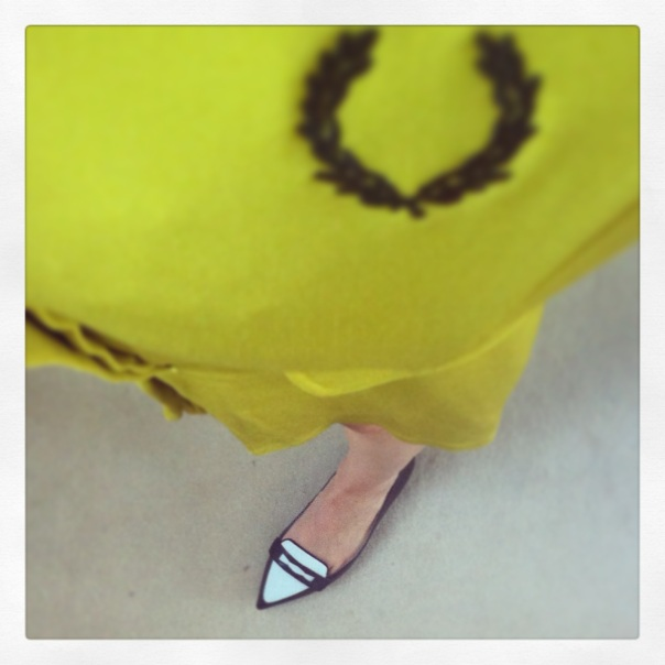 This Fred Perry dress is new for AW13, as are these Karen Millen two-tone flats