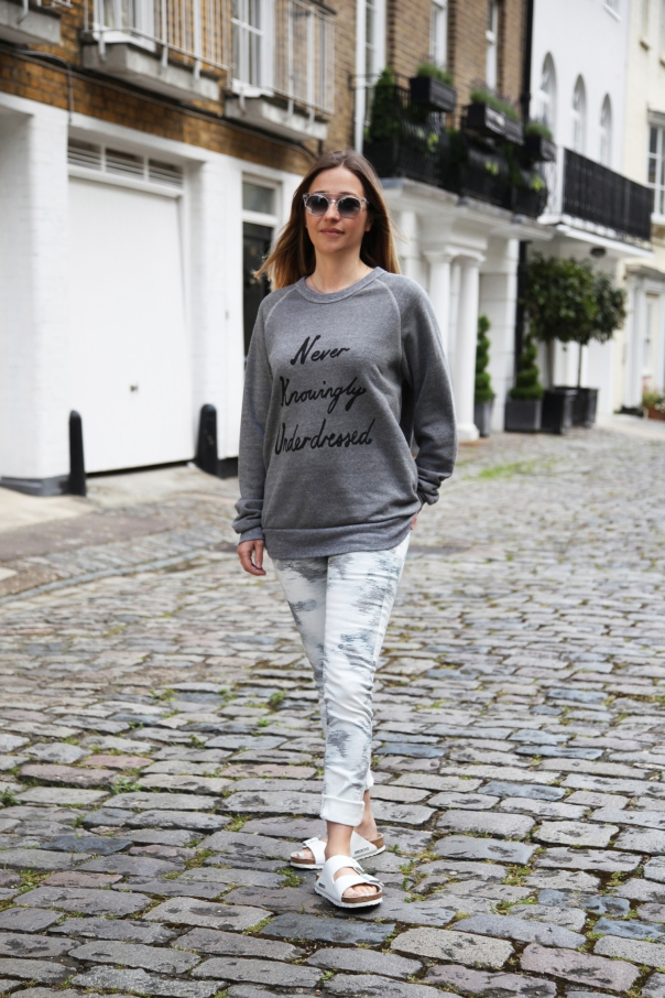 IRO jeans, £xx (BUY ME HERE), IDA sweater, £xx (BUY ME HERE!), Birkenstocks, £xx (BUY ME HERE!) and Hardy Amies sunglasses are my own