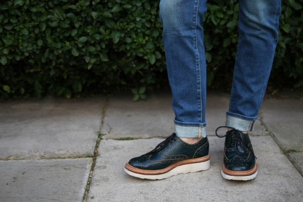 Le Garcon jeans by Frame Denim and Emily brogues by Grenson