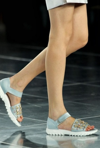 embellished pool shoes at Christopher Kane, SS2012