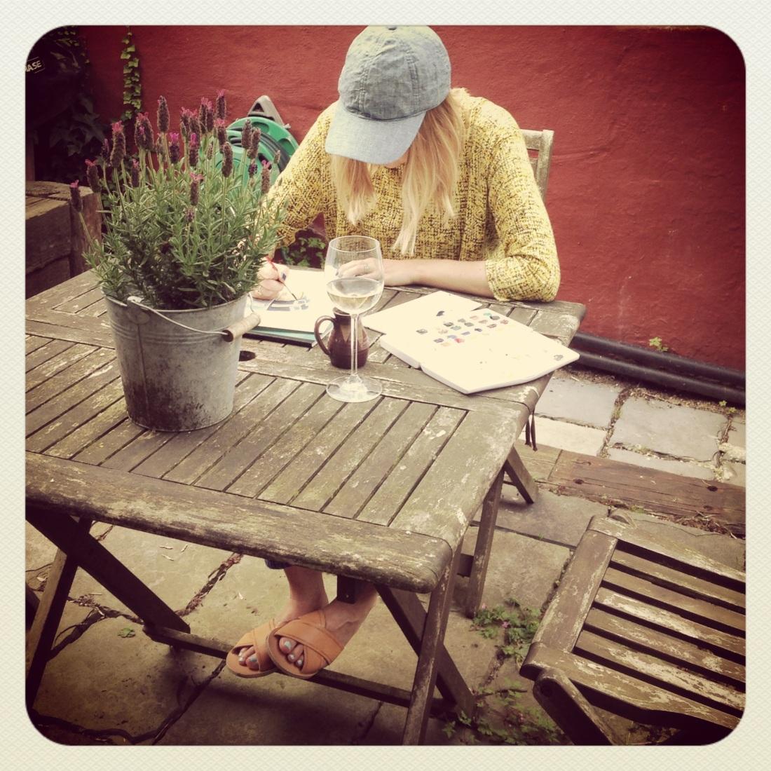 me working hard on my book!