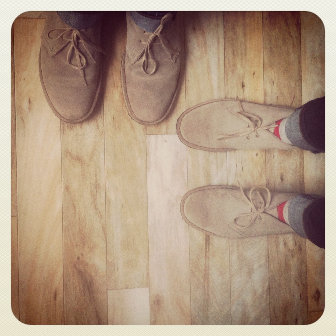 desert boots Clarks with Mr Brogue