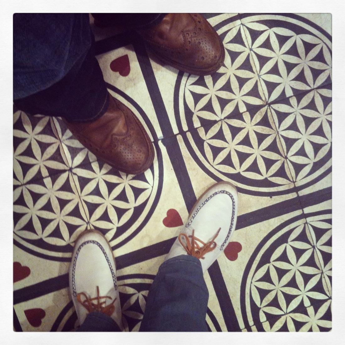 Grenson and Folk tiles in Barcelona