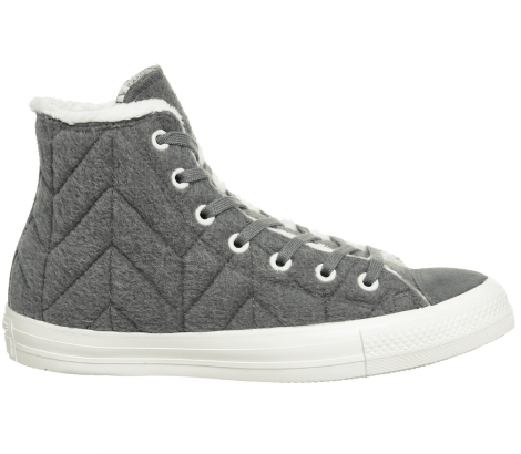 Converse quilted grey