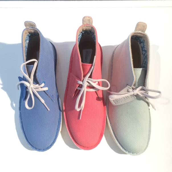 pastel Desert boots