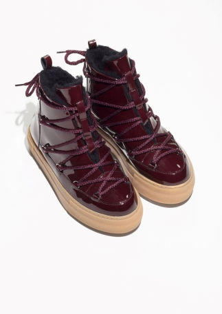 & Other Stories burgundy snow boot