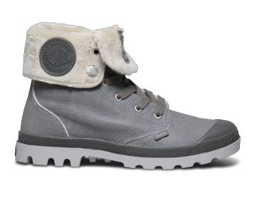 Palladium baggy leather grey