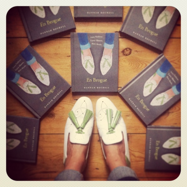 me wearing the Fratteli Rossetti brogue loafers featured on the cover of my book