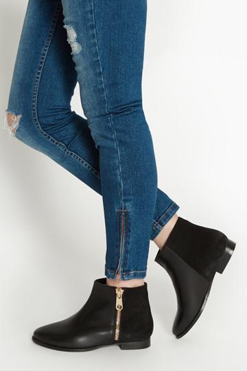 Oasis Jemima zip boots