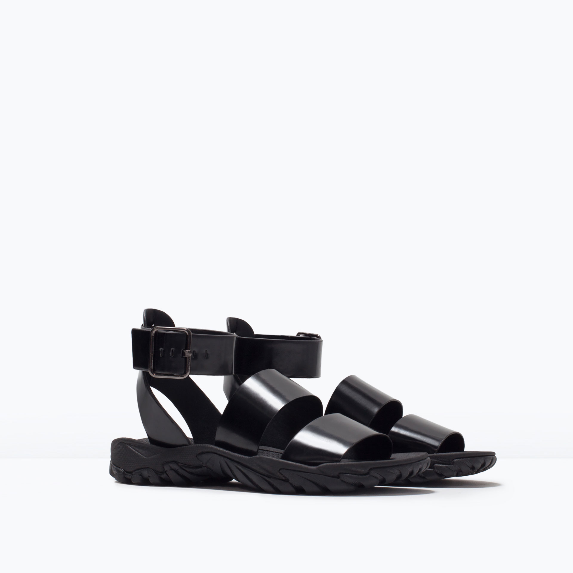 Zara Tan Sandals Zara Track Sole