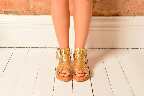 Northern Cobbler gold sandal