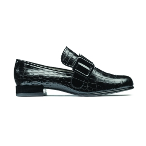 Orla Alice Black Mock Croc Leather
