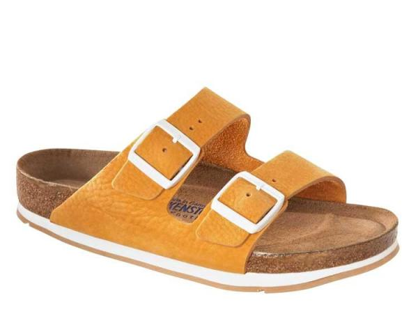 Classic Birkenstock Arizona Nubuck Soft Footbed Softy Orange 652891 - ORANGE_6084