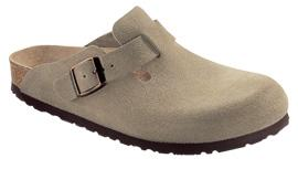 BIRKENSTOCK CLASSICS Boston Suede Leather Taupe 060461 - TAUPE_1501