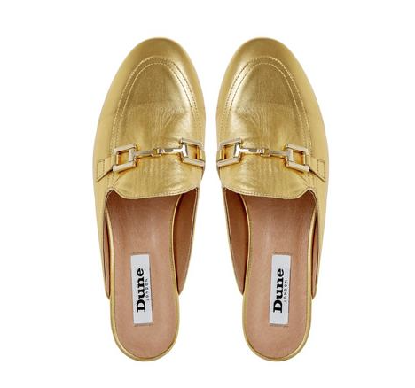 dune-gold-loafers