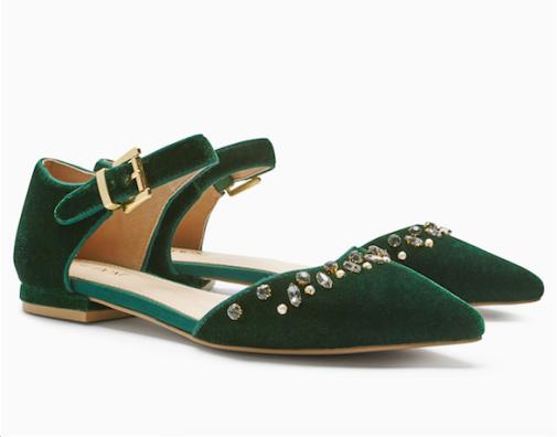 next-green-velvet-shoes