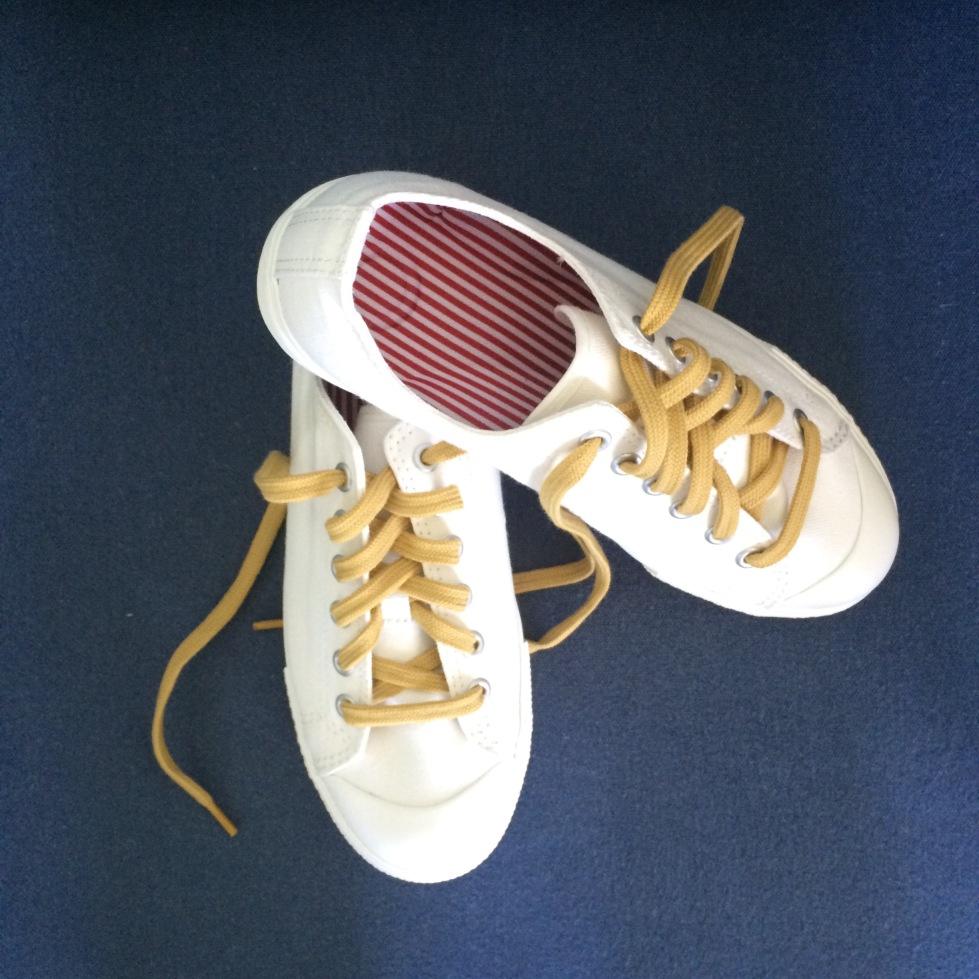 MUJI white sneakers
