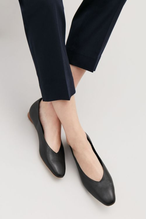COS leather ballerinas