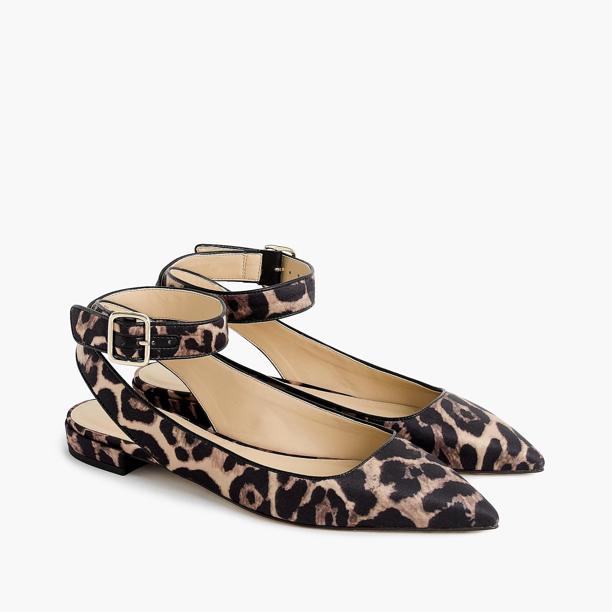 98ac572aac40 J Crew leopard print ankle strap flats – En Brogue