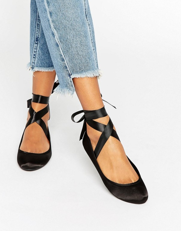 ASOS black ballet pumps 2