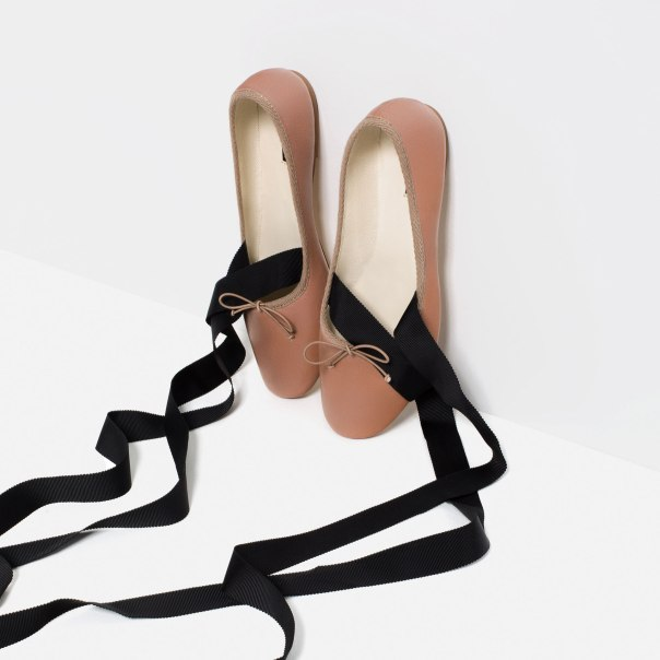 Zara ballet pumps pink