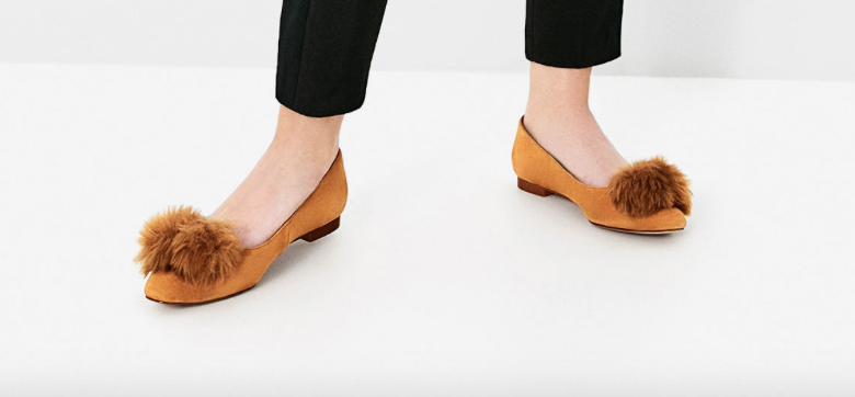 zara-yellow-pom-pom-slippers