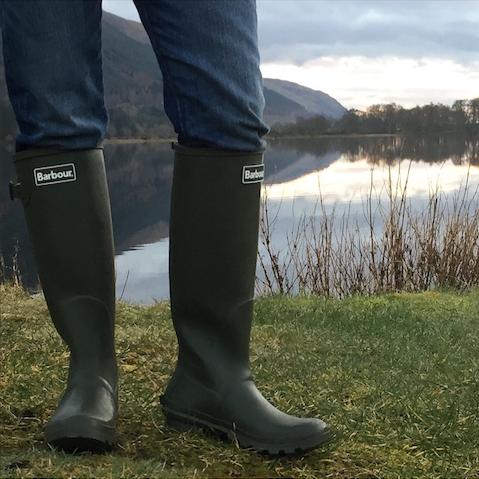 Barbour long wellies Loch Lochy