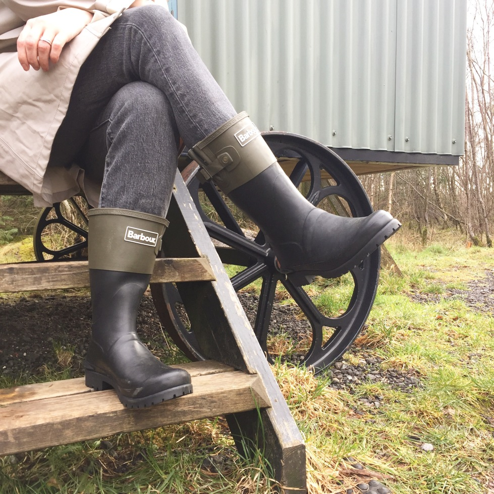 Barbour short wellies on En Brogue