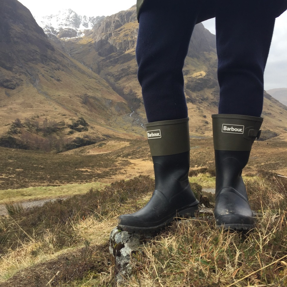 Barbour short wellies on Glencoe