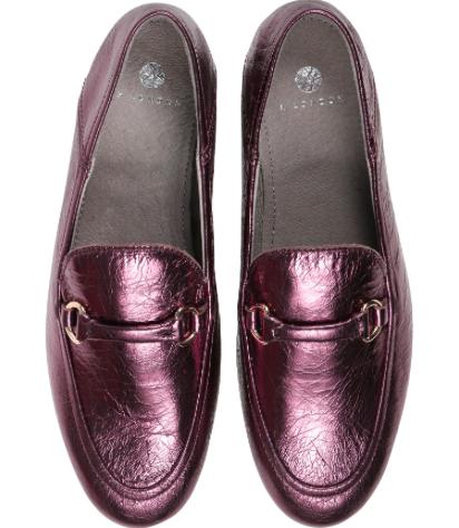 Hudson Ariana loafer purple metallic