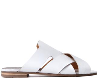 Hudson white sandals