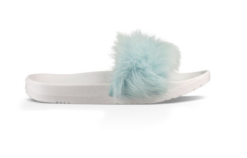 UGG Royale fluff slides blue