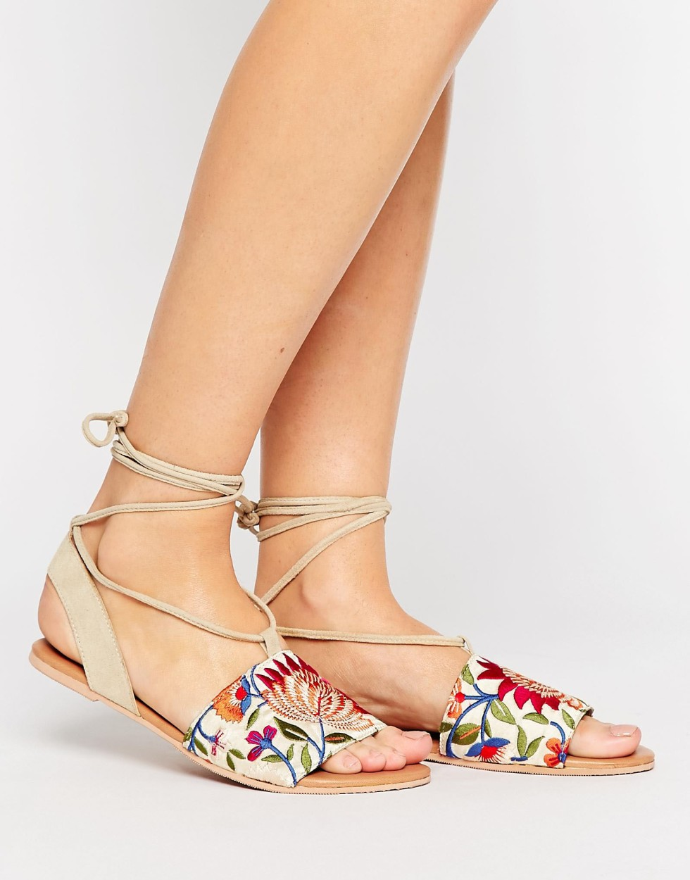 ASOS embroidered sandals