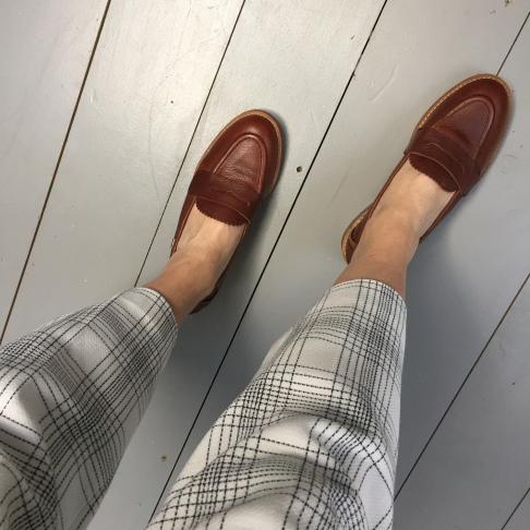 En Brogue wearing Barbour Diane loafers