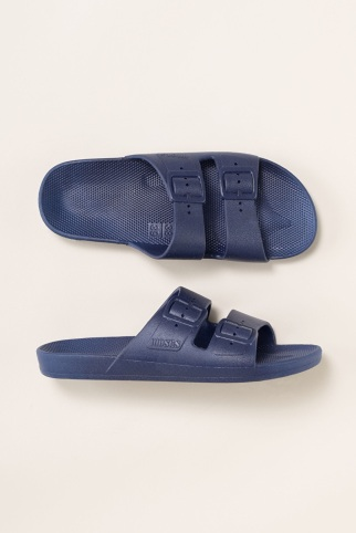 Moses navy slides