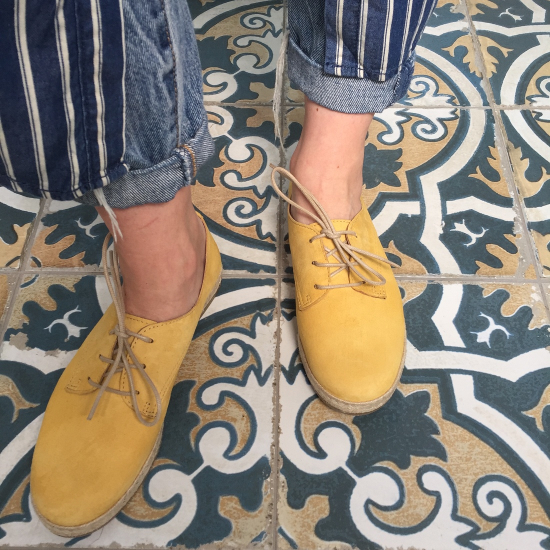 Seasalt mustard espadrilles