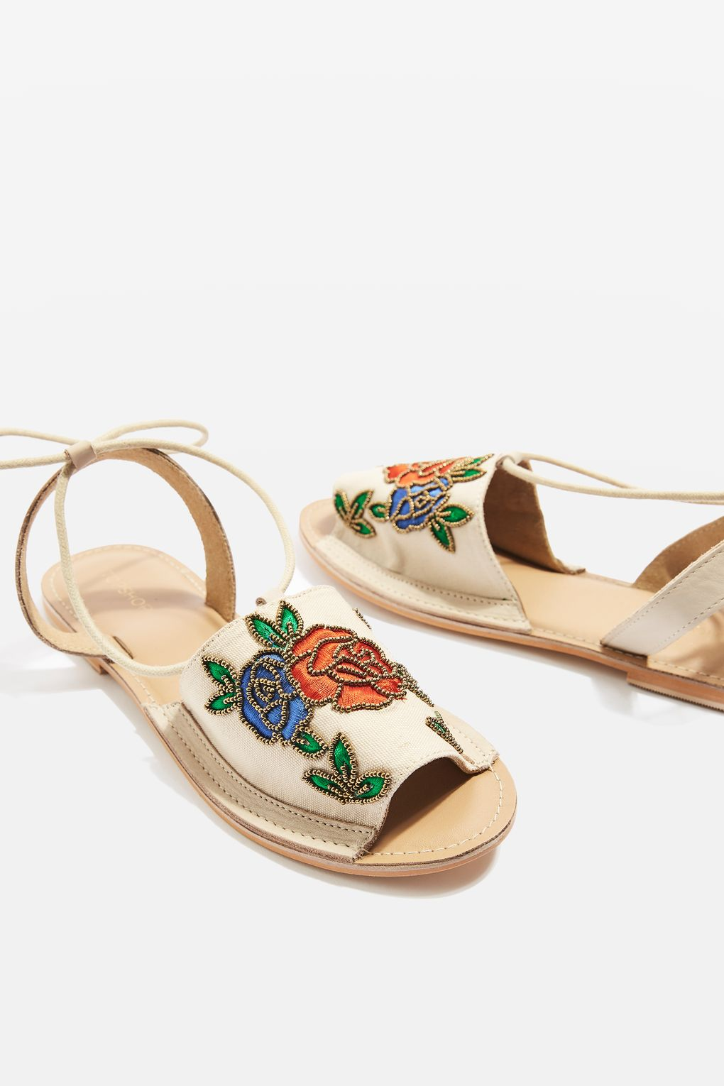 Topshop HALLE embroidered sandals