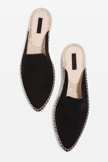 Topshop Knight pointy espadrilles black