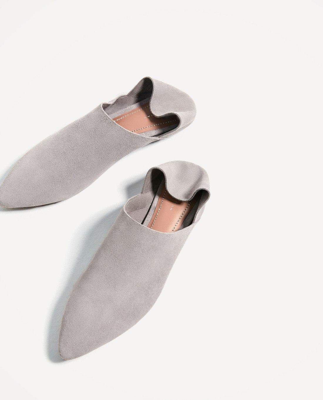 Zara grey babouches 2
