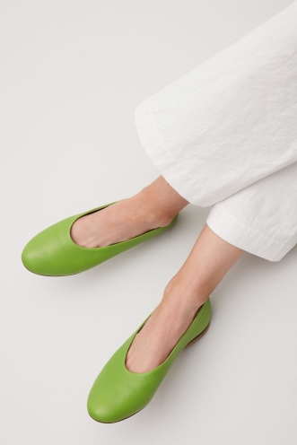 COS green nanna shoes