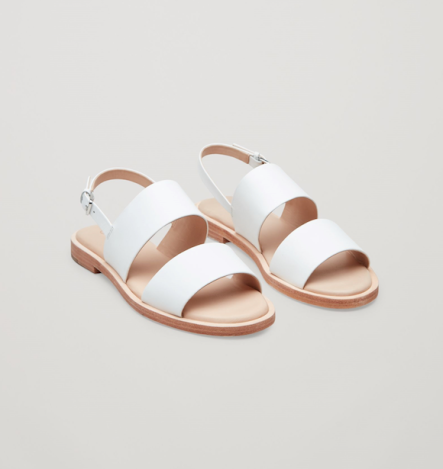 COS white sandals