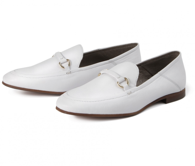 Hudson white loafers