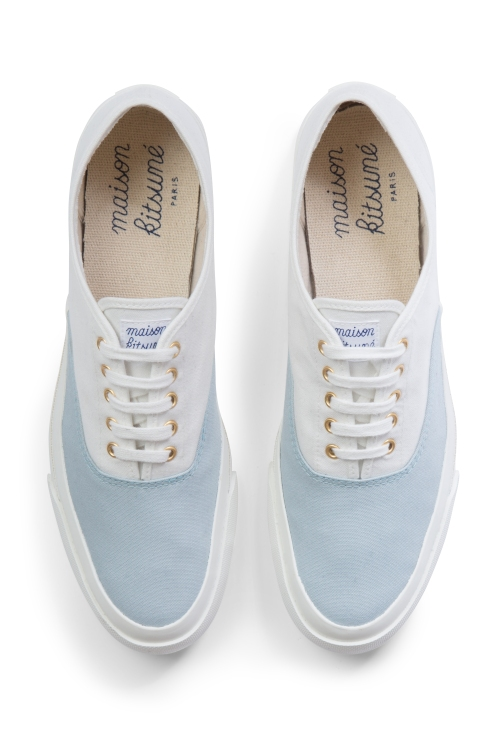 Maison Kitsune bicolour sneakers blue
