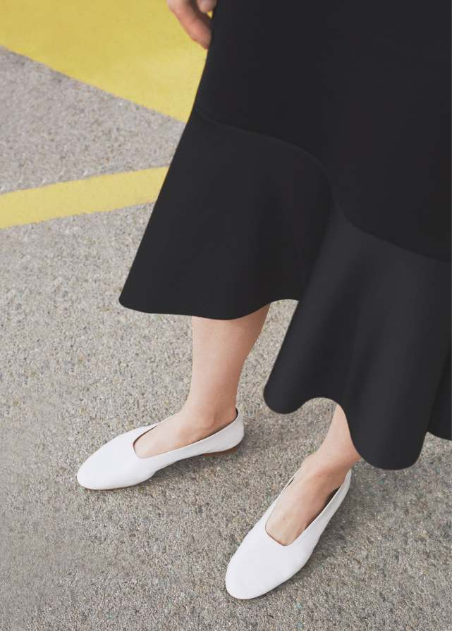 Mango white nanna shoes