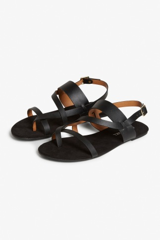 Monki black strappy sandals