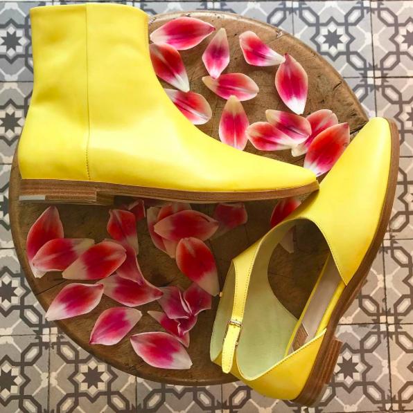 Zoe Lee yellow shoes