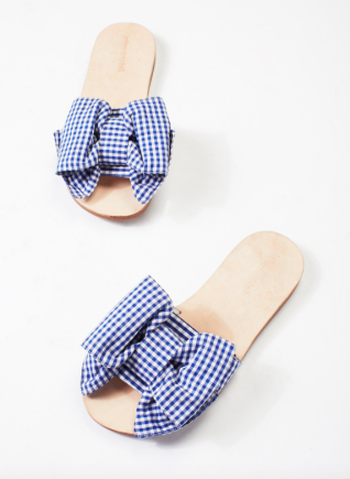 Jeffrey Campbell gingham slides